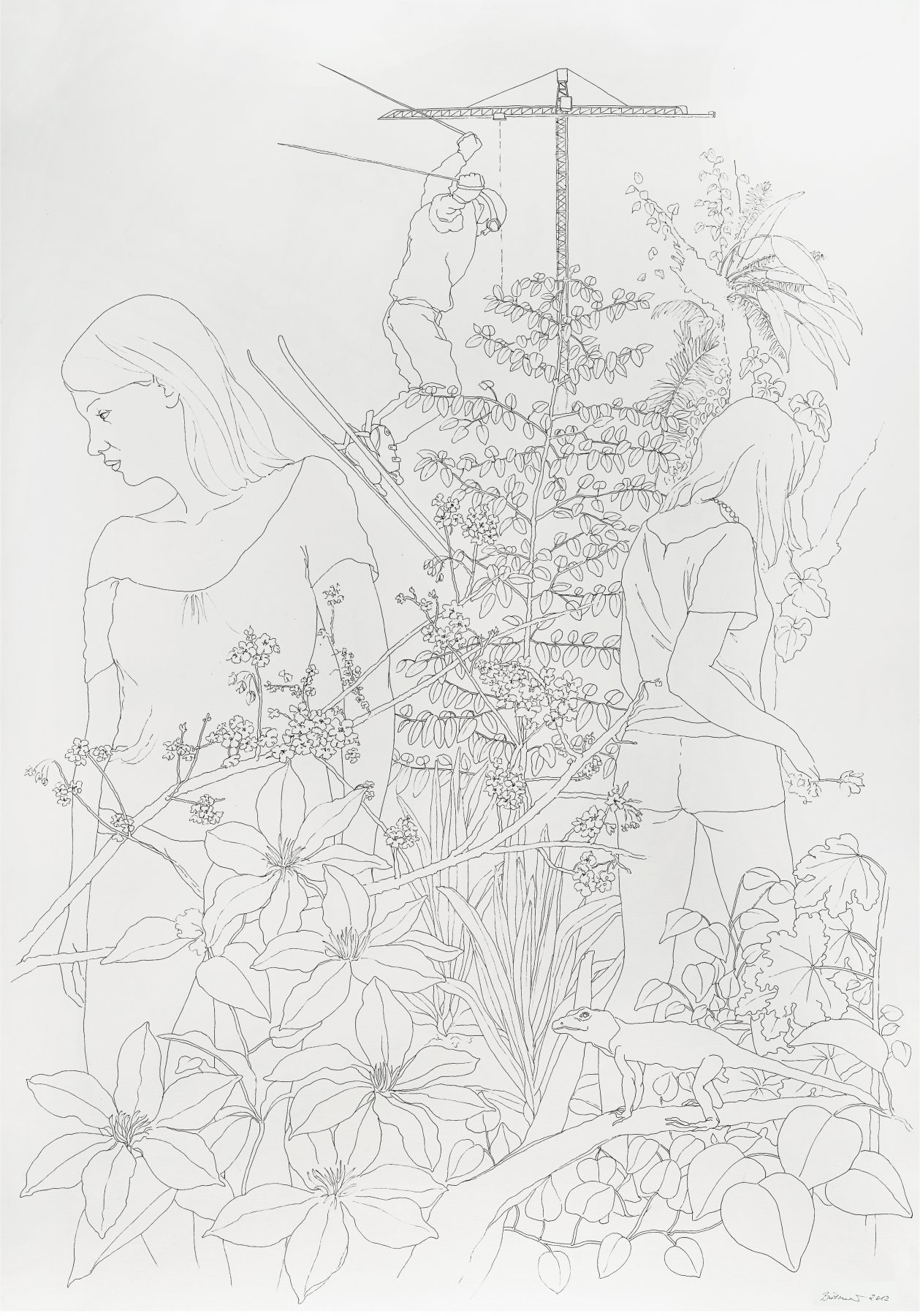 Drawing, Martina Büttner, Jump 2012