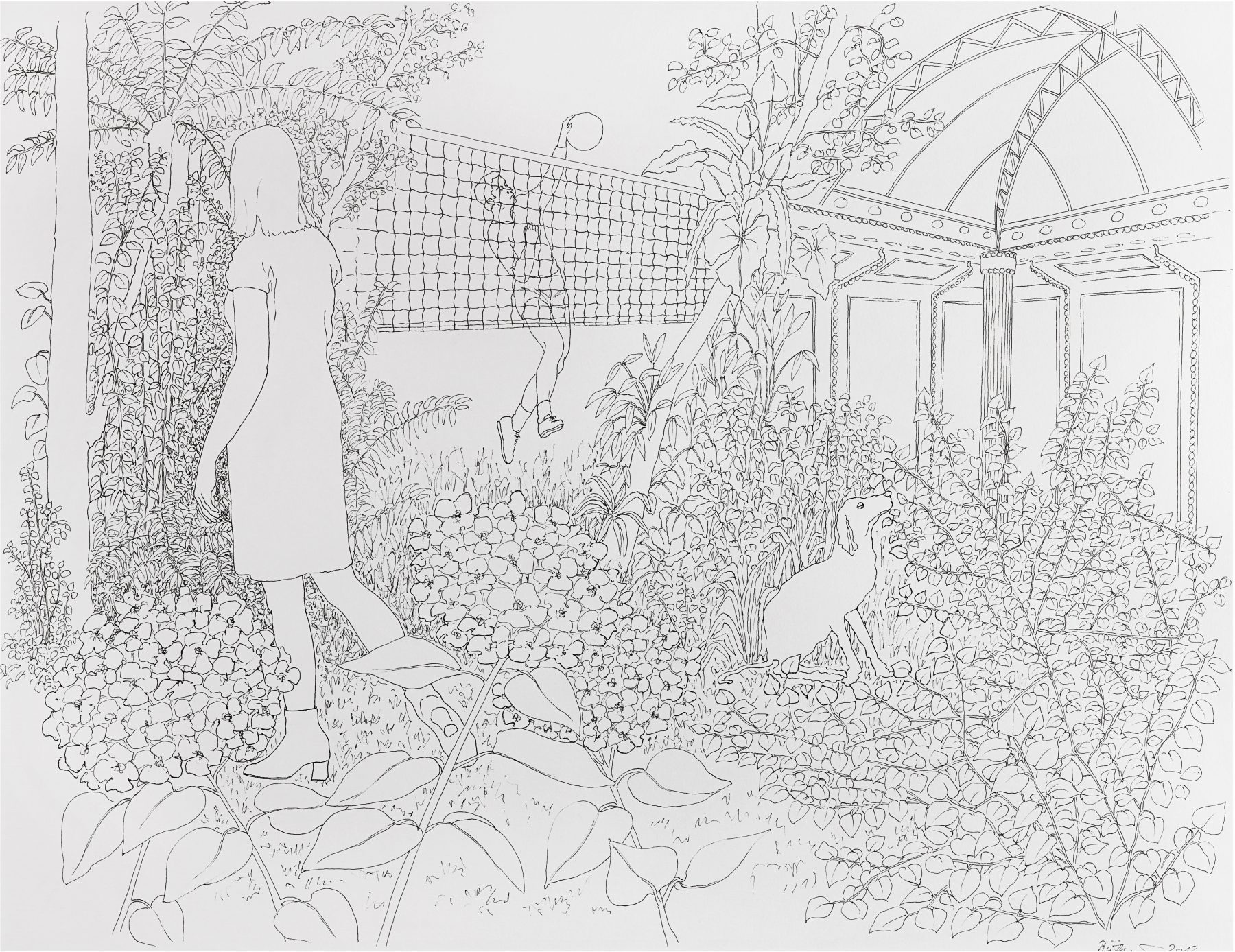 Drawing, Martina Büttner, Lost in paradise 2011
