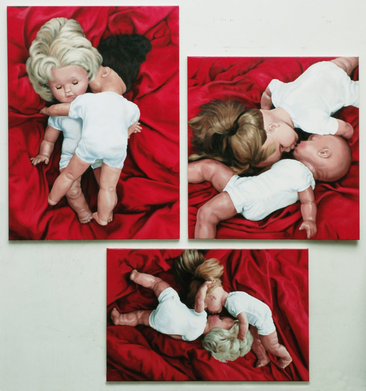 Martina Büttner: Painting, trilogy of embracing 2009