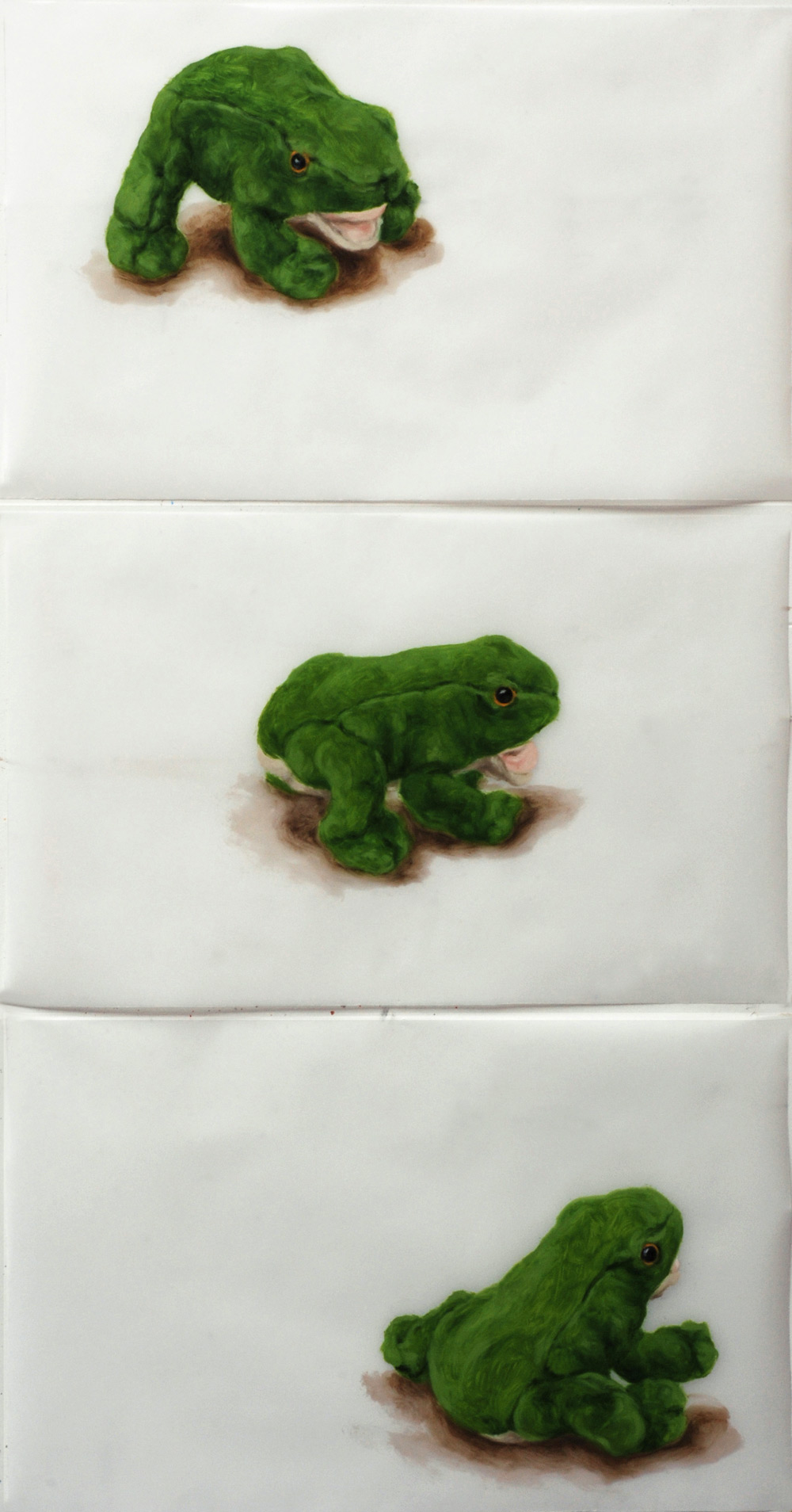 Martina Büttner: Painting, 3-frogs-again-2009