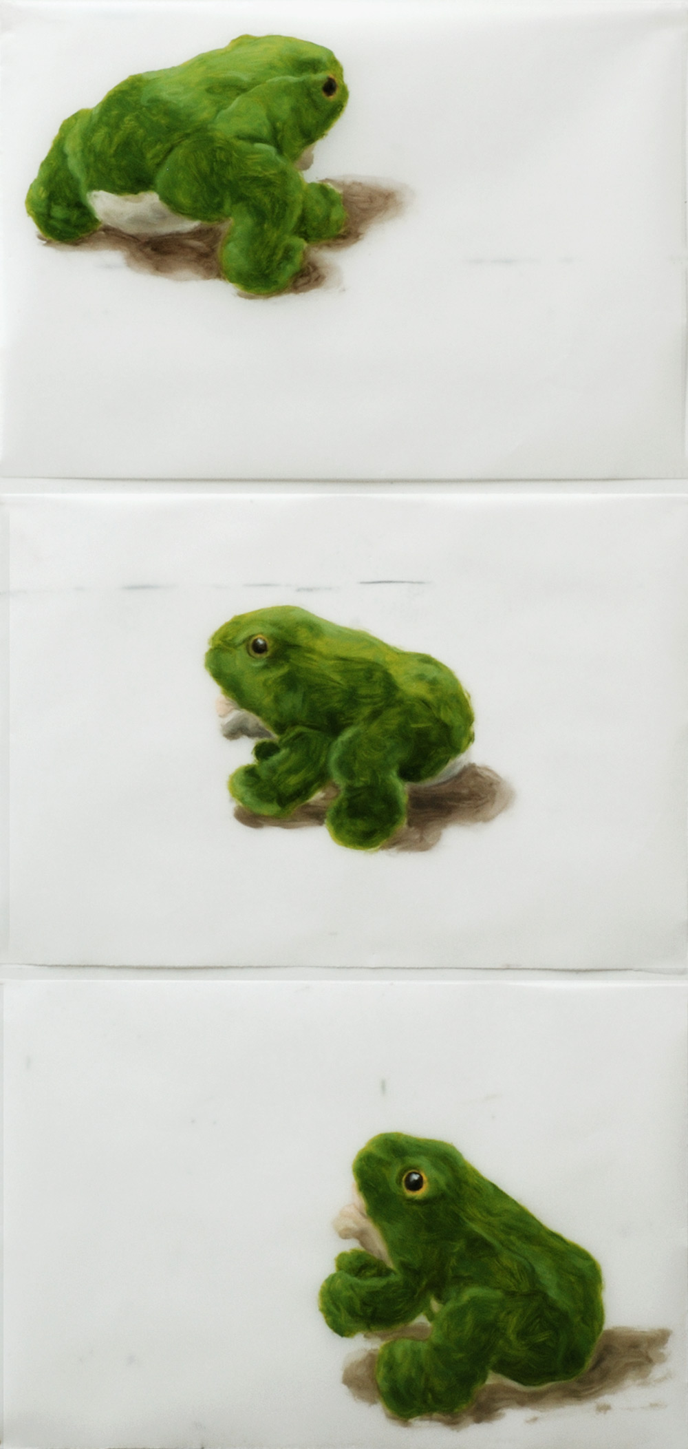Martina Büttner: Painting, 3-frogs