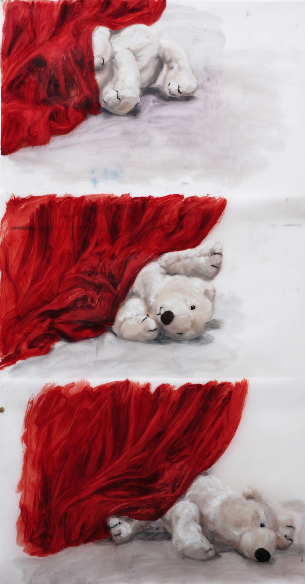 Martina Büttner: Painting, Bear-struggling-2008