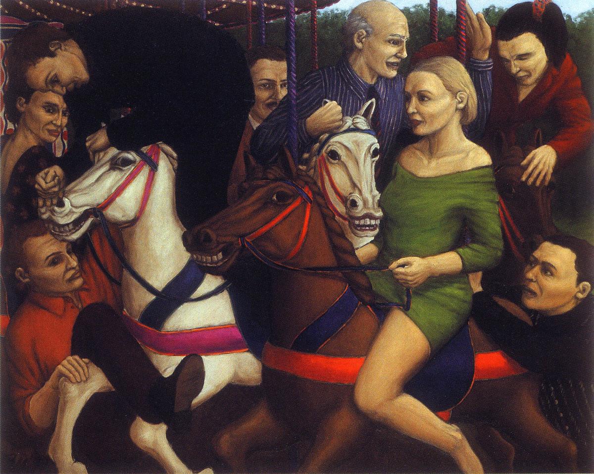 Martina Büttner: Painting, Carousel 1997