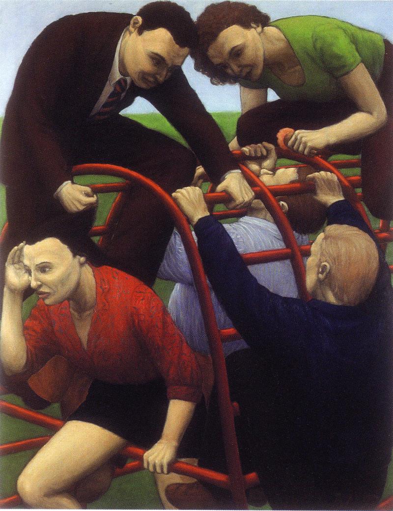 Martina Büttner: Painting, Climbing frame 1997