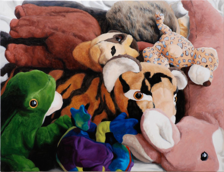 Martina Büttner: Painting, jungle life #I, 2008