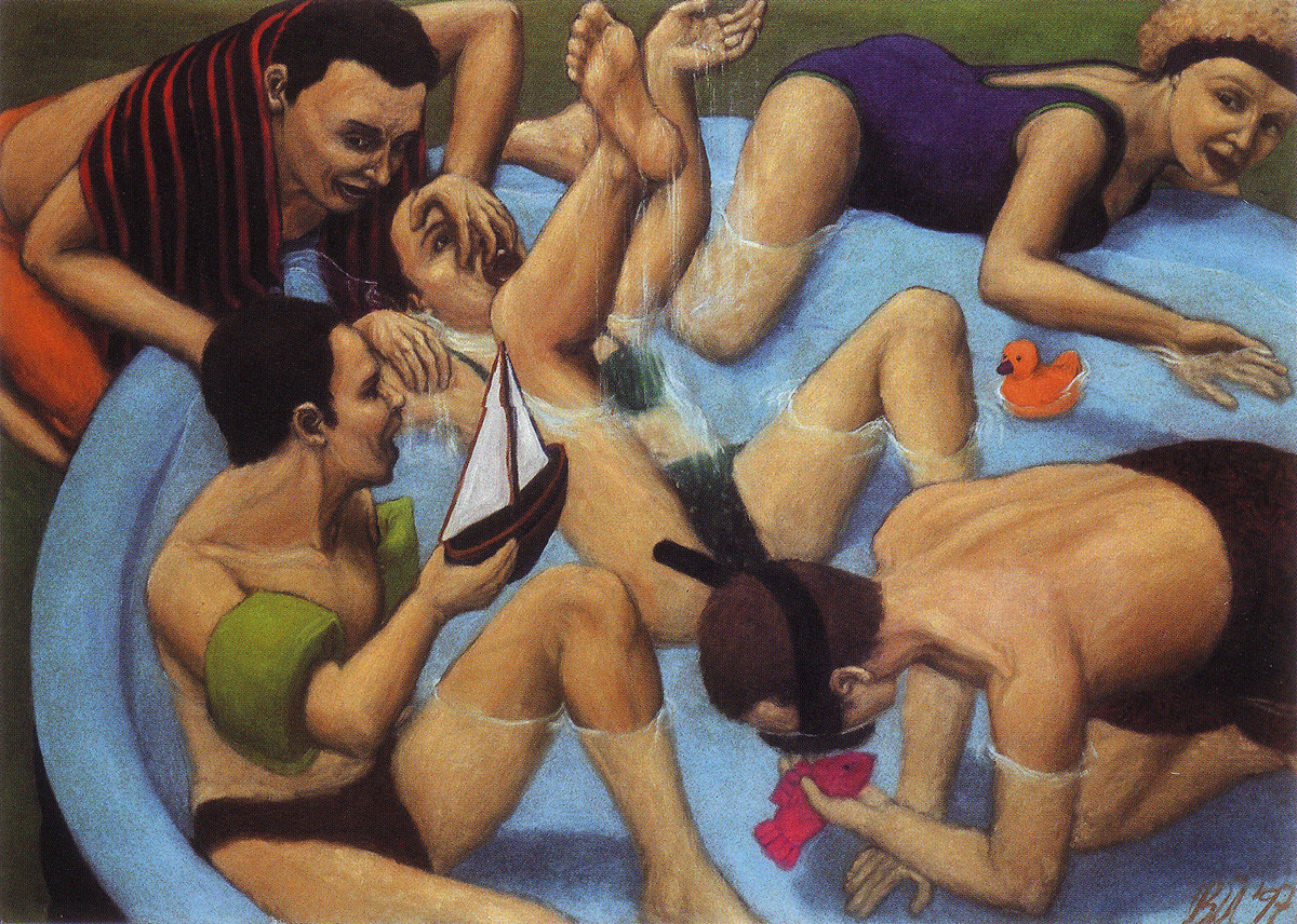 Martina Büttner: Painting, paddling pool 1997