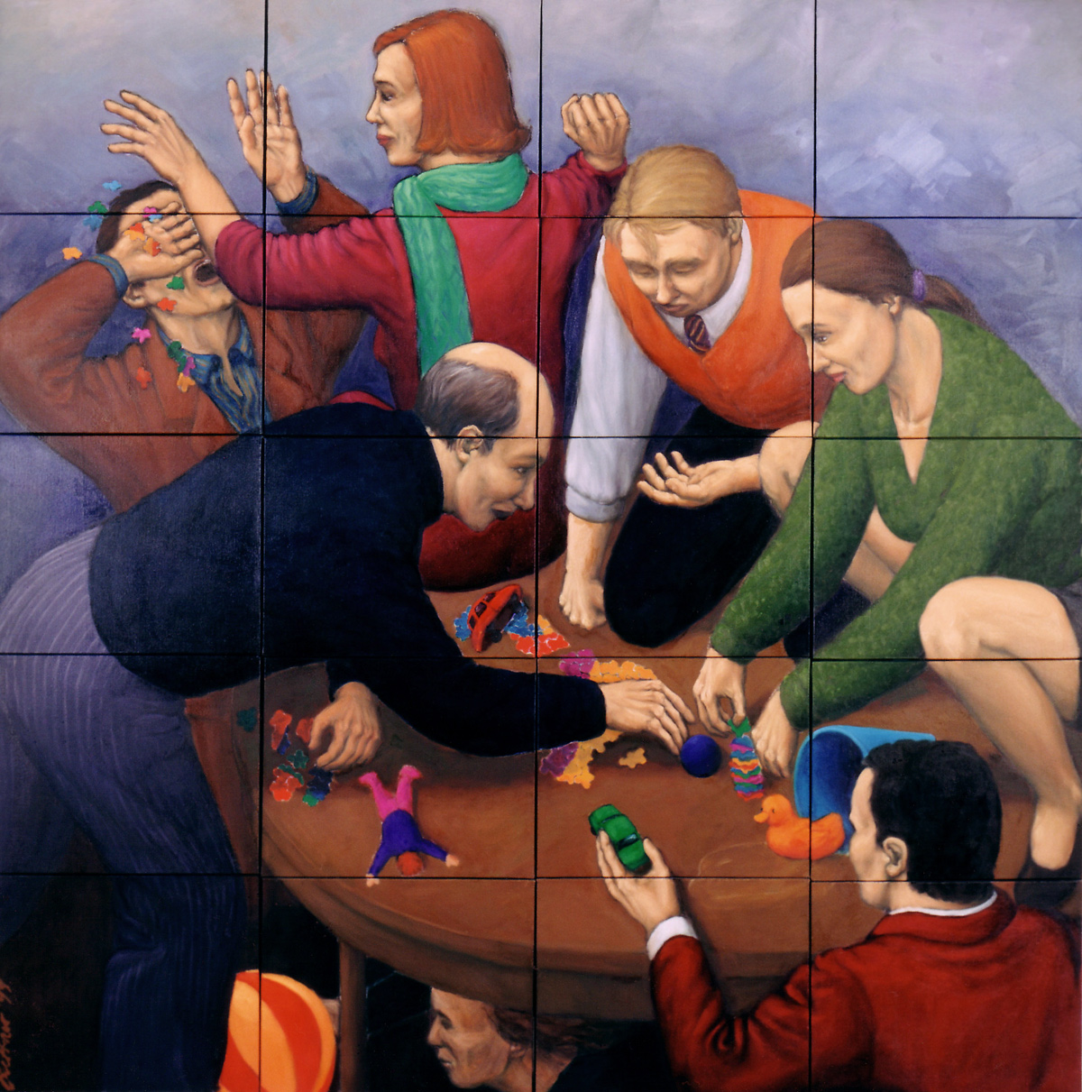 Martina Büttner: Painting, puzzle 2000