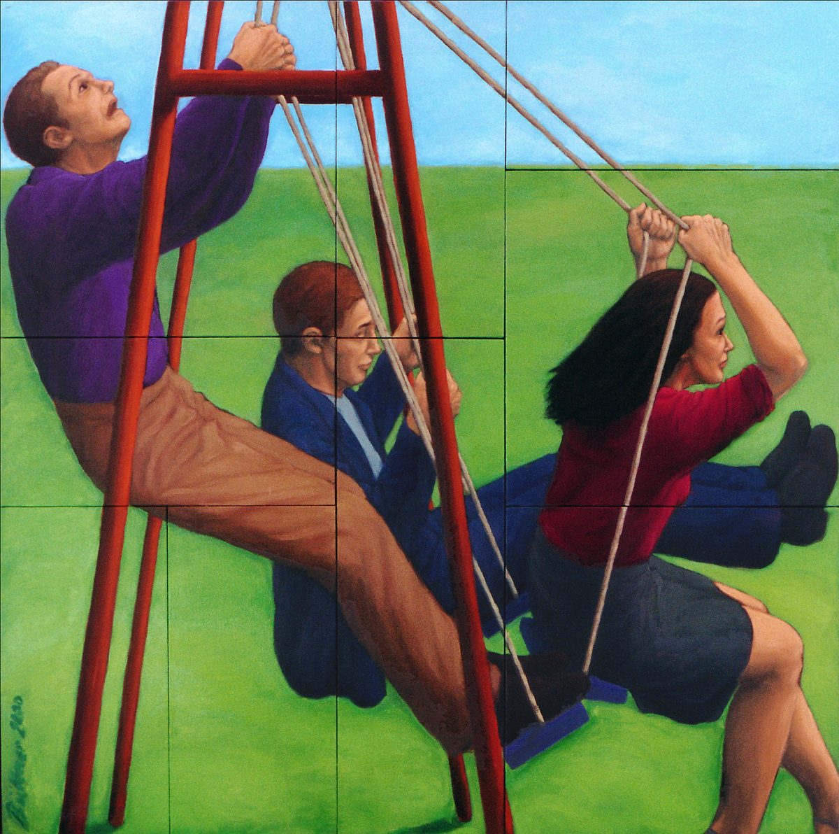 Martina Büttner: Painting, Swing 1999