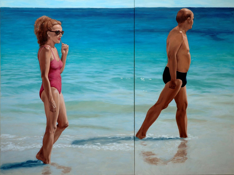 Martina Büttner painting afternoon sun, 2007