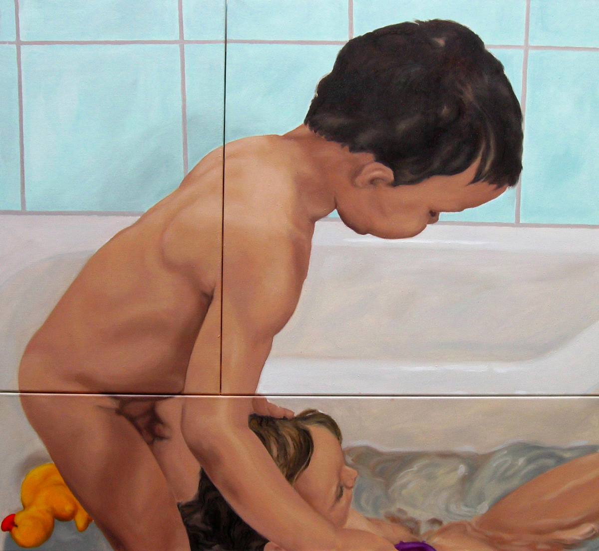 Martina Büttner painting Aquarius and Mermaid, 2003