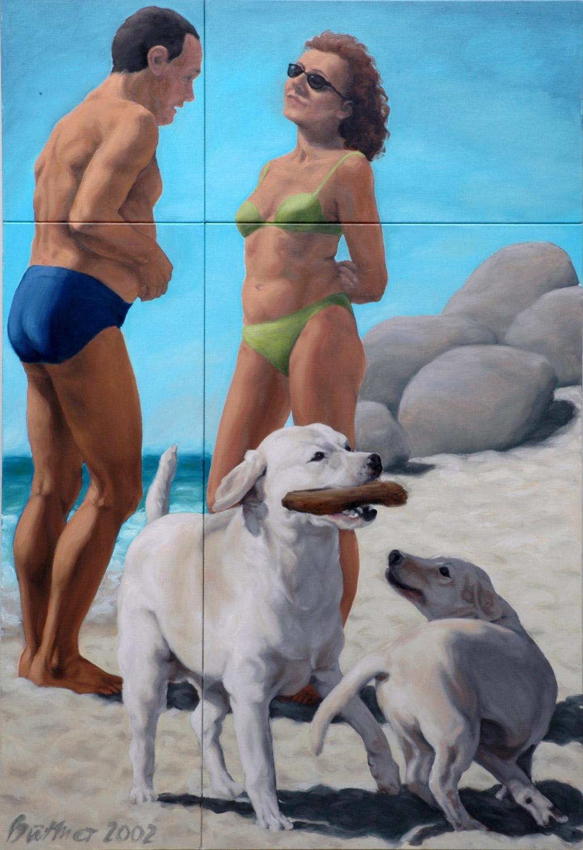Martina Büttner painting Beach talk, 2002