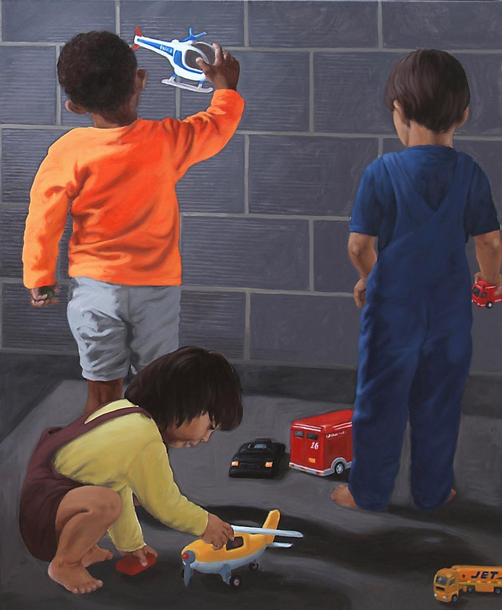 Martina Büttner painting J.E.T., 2005