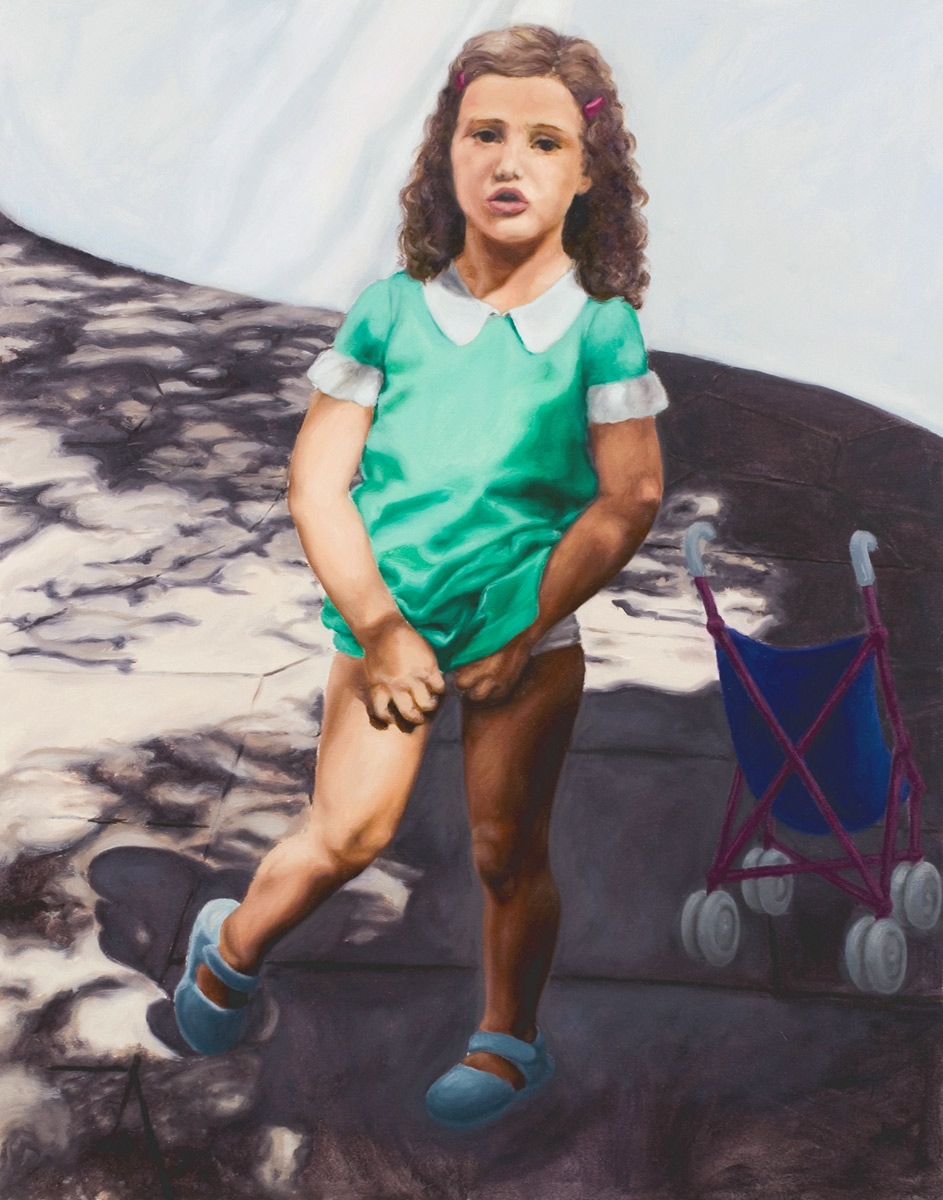 Martina Büttner painting little girl, 2003