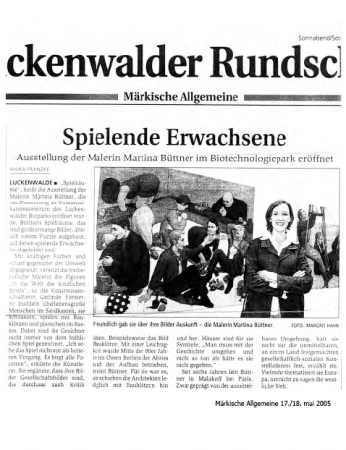 Biotechnologiepark Luckenwalde, 2003
