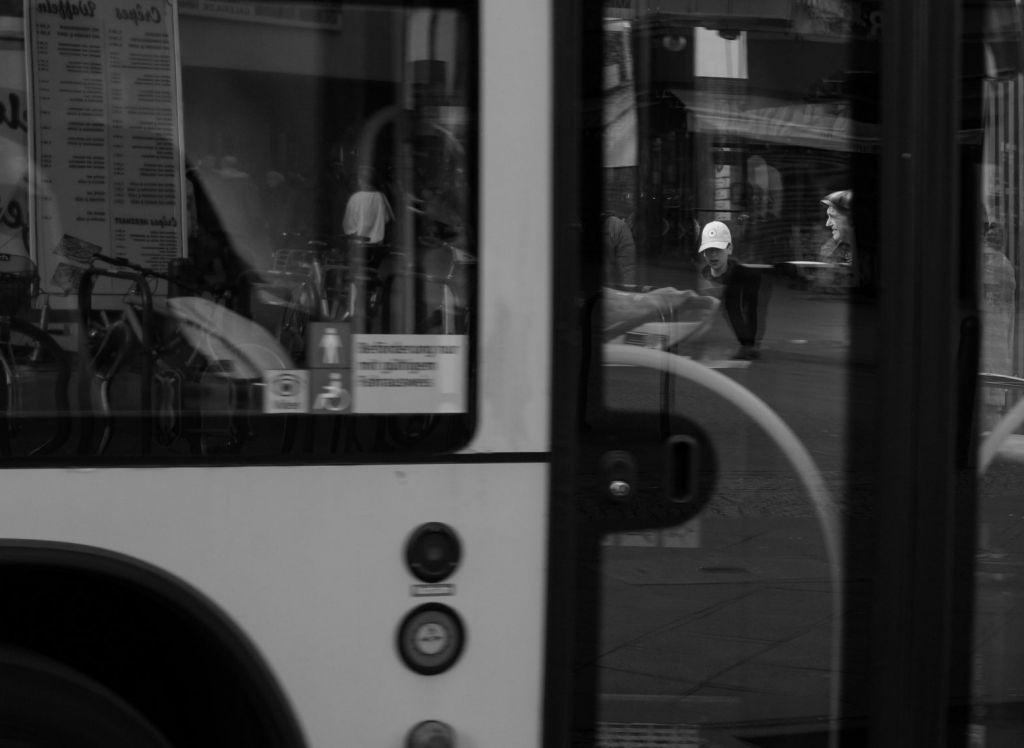 Bus stop, Berlin, March 2019