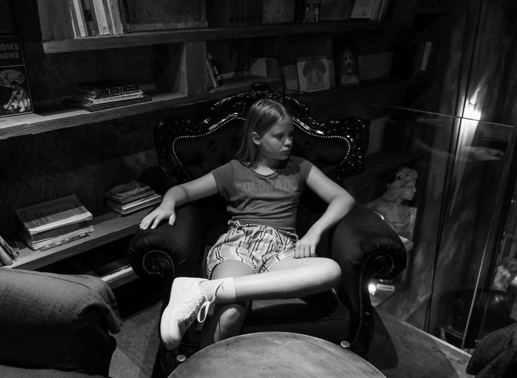 Girl in armchair, Montenegro 2018
