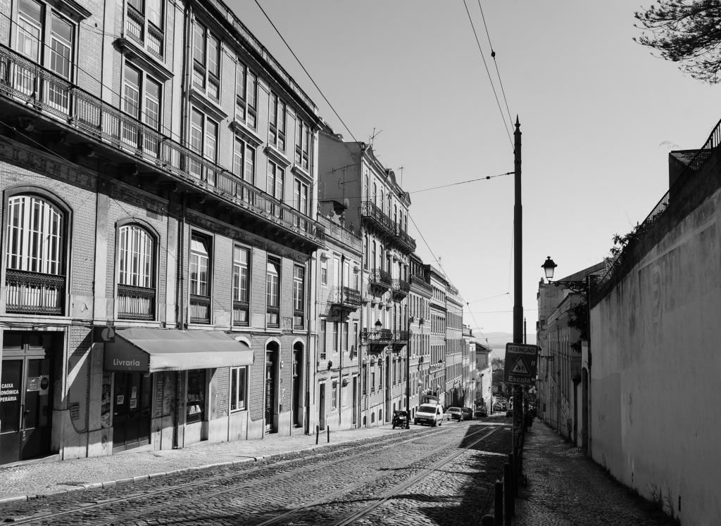 Lisbon street view, February 2019