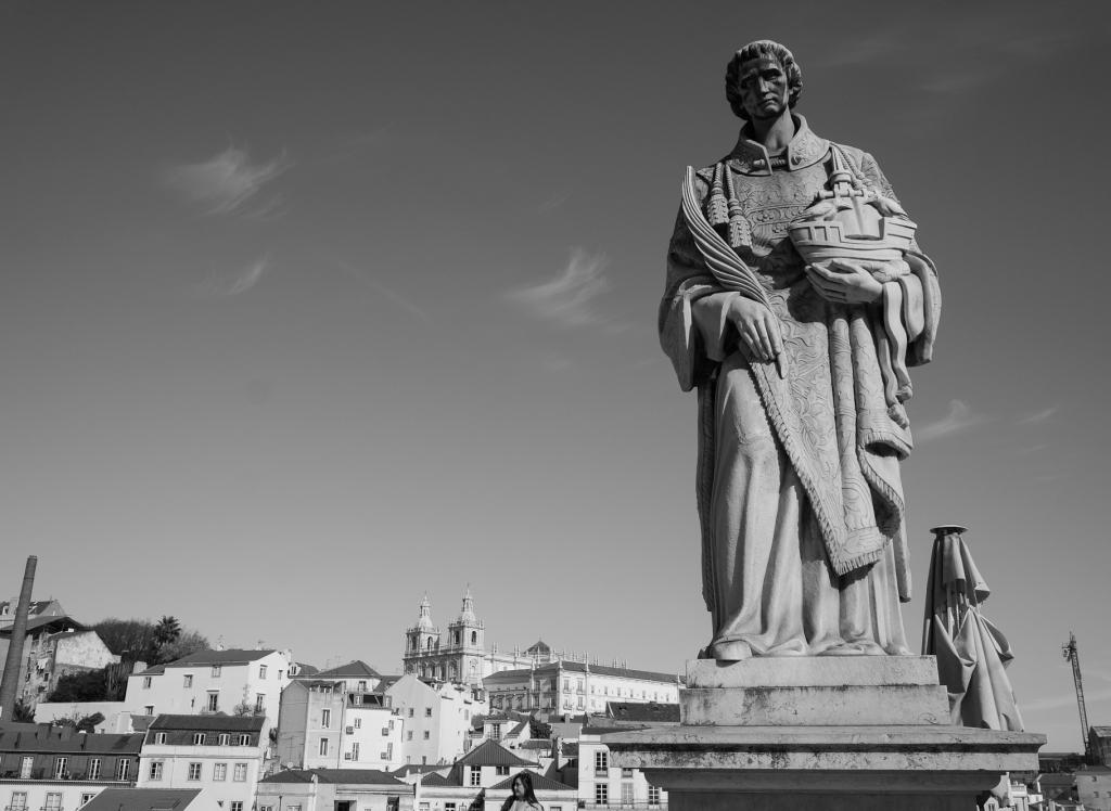 Lisbon view with Church of São Vicente of Fora, 2019