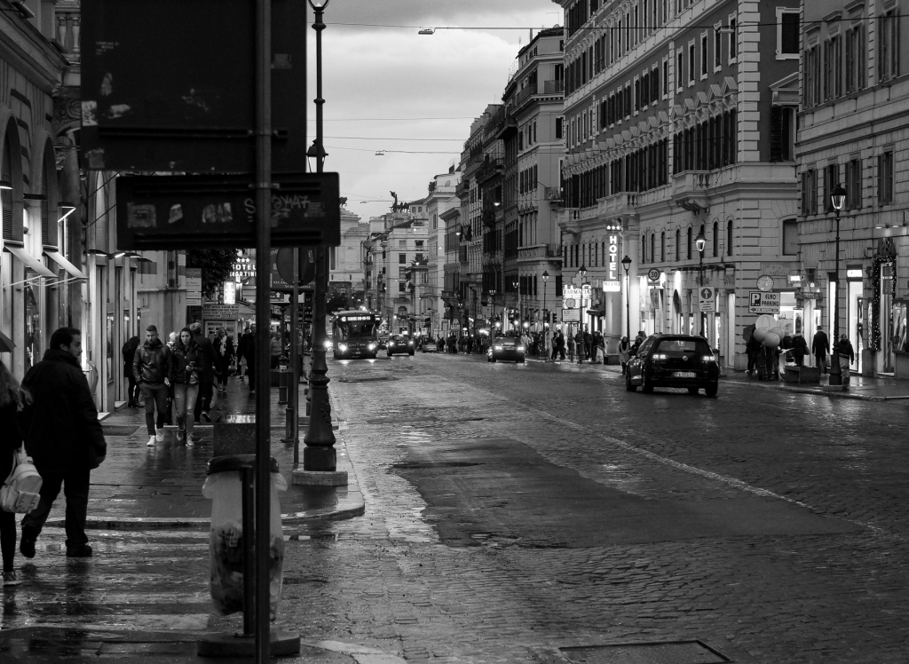 Rome evening street view, 2018