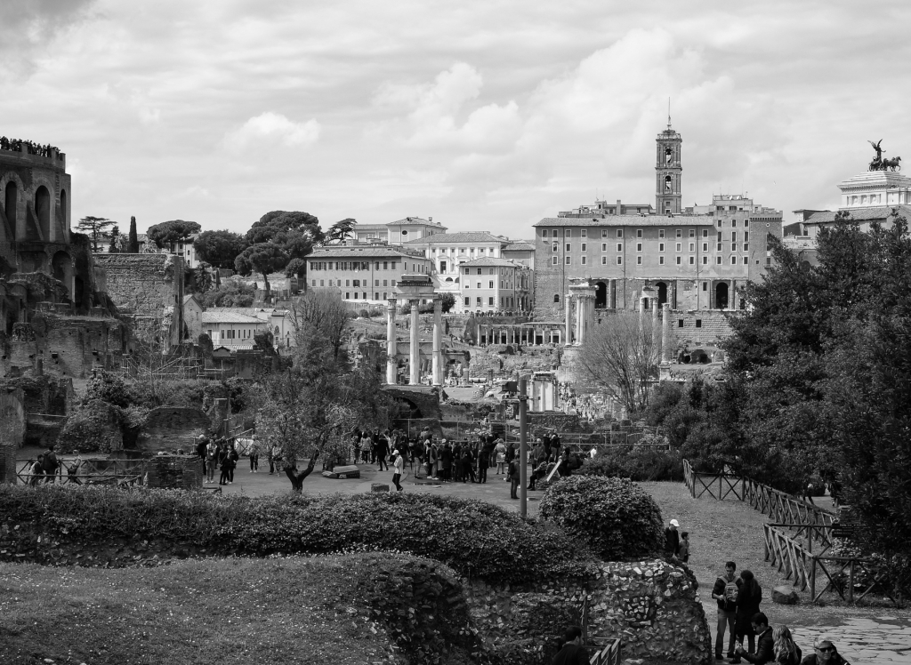 View of Foro Romano, Rome 2018