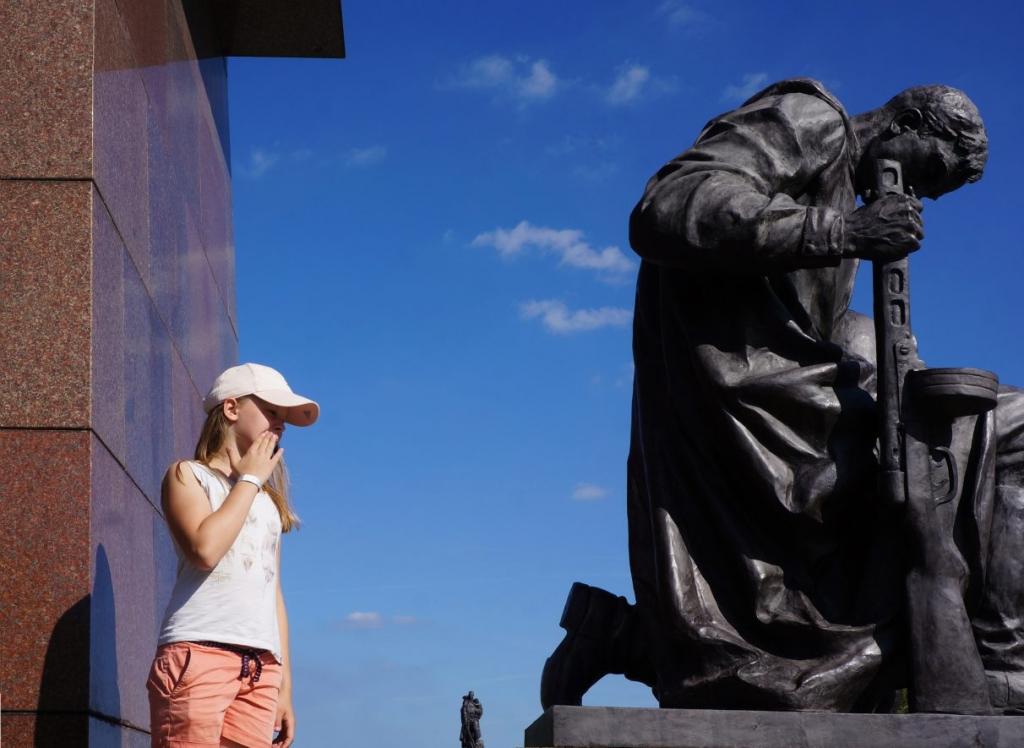 In front of the Sowiet Memorial 2017