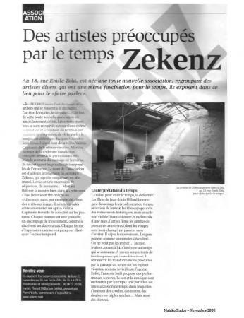 Zekenz, Malakoff 2008