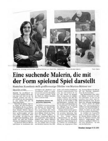Kunstkreis Hameln 2003