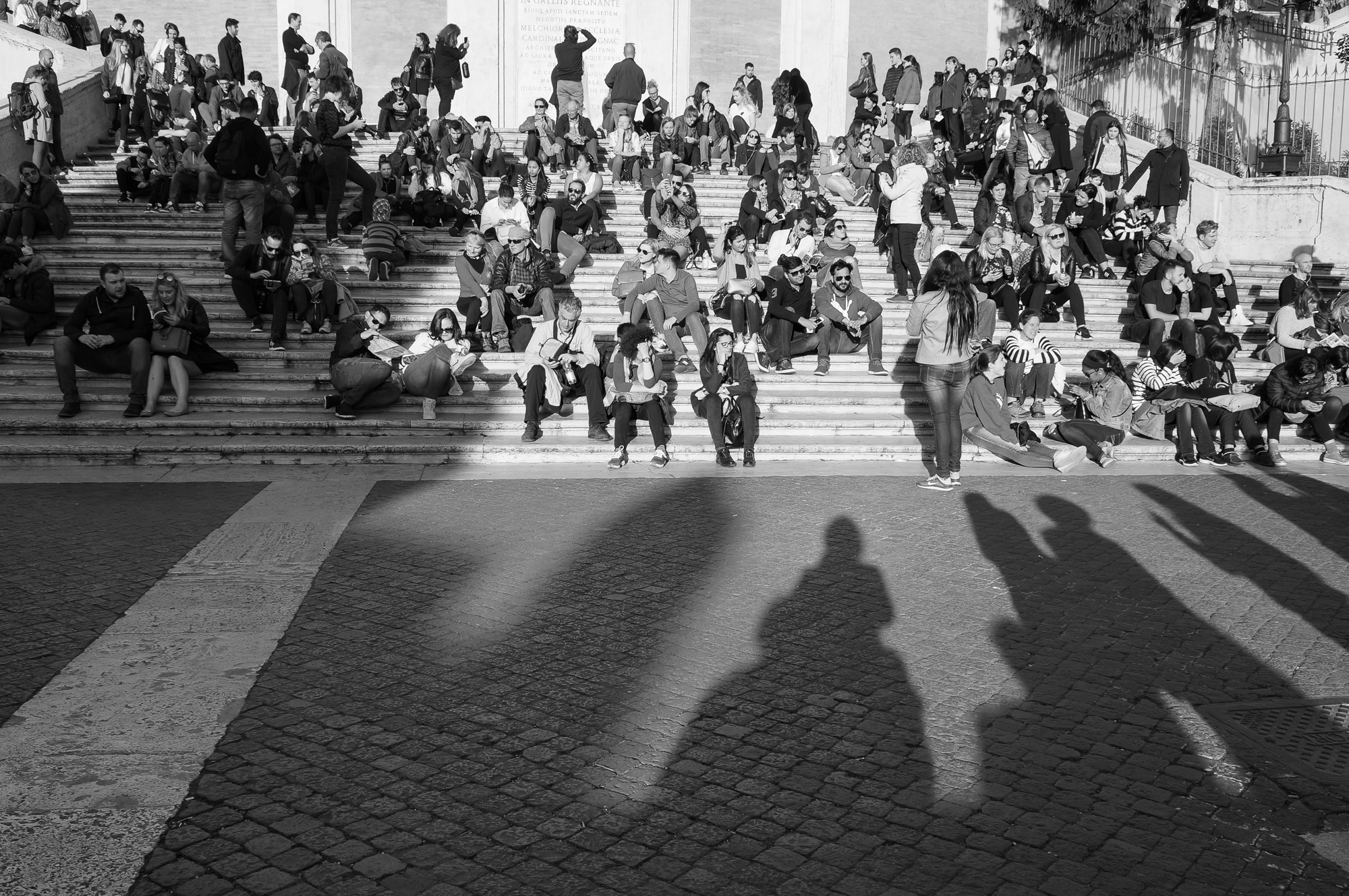 Evening light at Spanish steps, Rome 2018