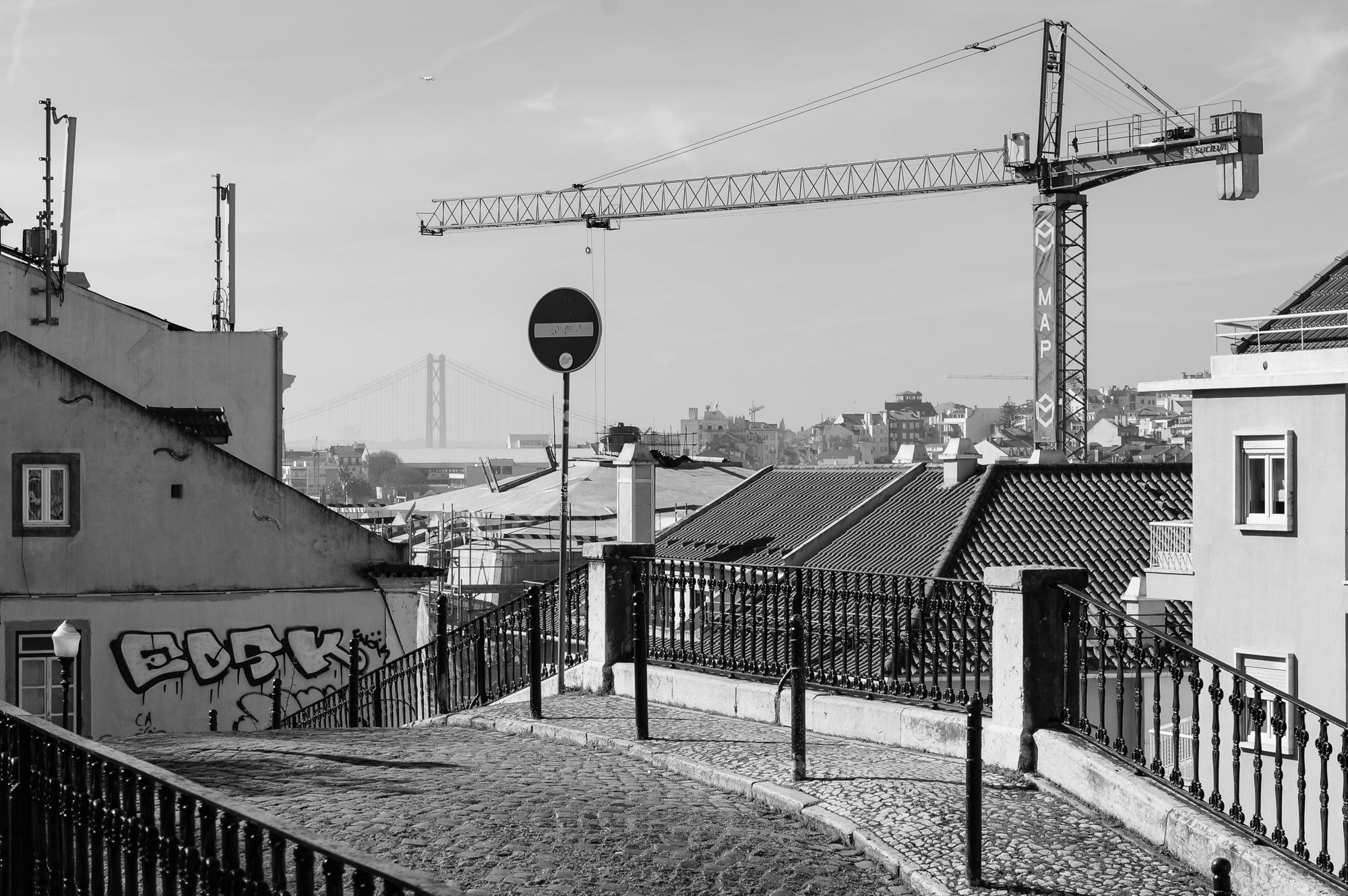 Lisbon view with ponte 25 de Abril, 2019